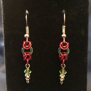 Chainmaille Christmas Earrings