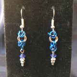 Chainmaille Hanukkah Earrings
