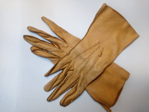 Yellow Deerskin Gloves