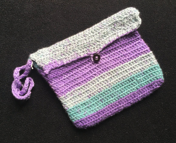 Crocheted Envelope Wristlet