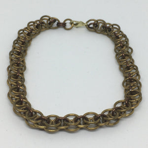 Brass Parallel Weave Anklet