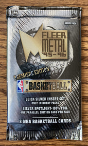 Fleer Metal '95-'96 Premiere Edition Basketball Trading Cards