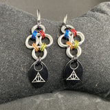 Deathly Hallows Scale Earrings