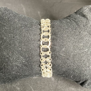 Silver Square Wire Caterpillar Bracelet