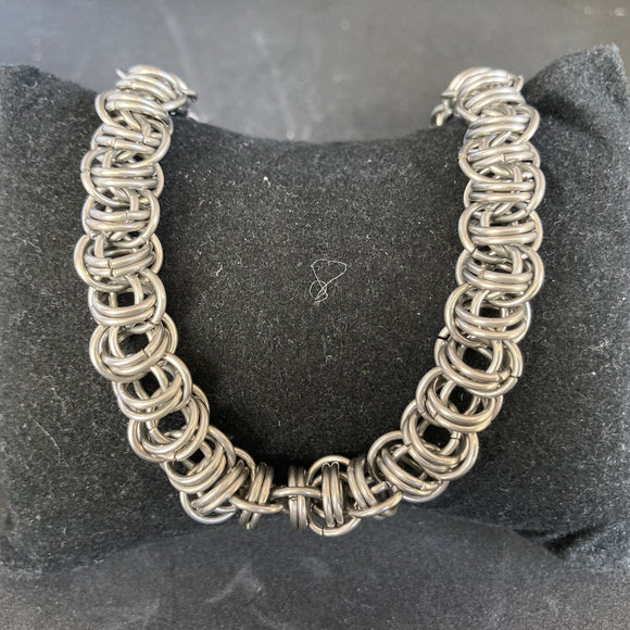 Steel Barrel Necklace