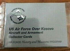 US Air Force Over Kosovo Aircraft and Armament Collector Cards