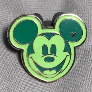 Green Hidden Mickey Pin