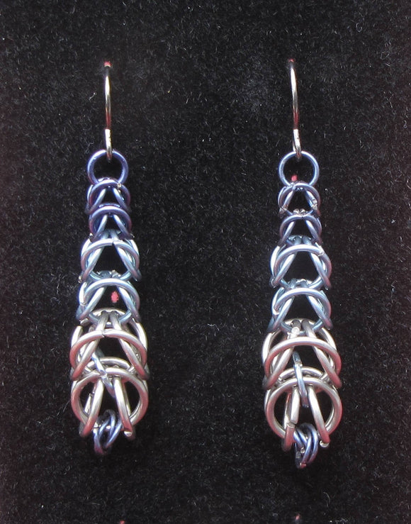 Blue Gradient Niobium Earrings