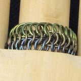 Blue and Green Niobium Ring