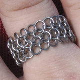 Wide Steel Ring