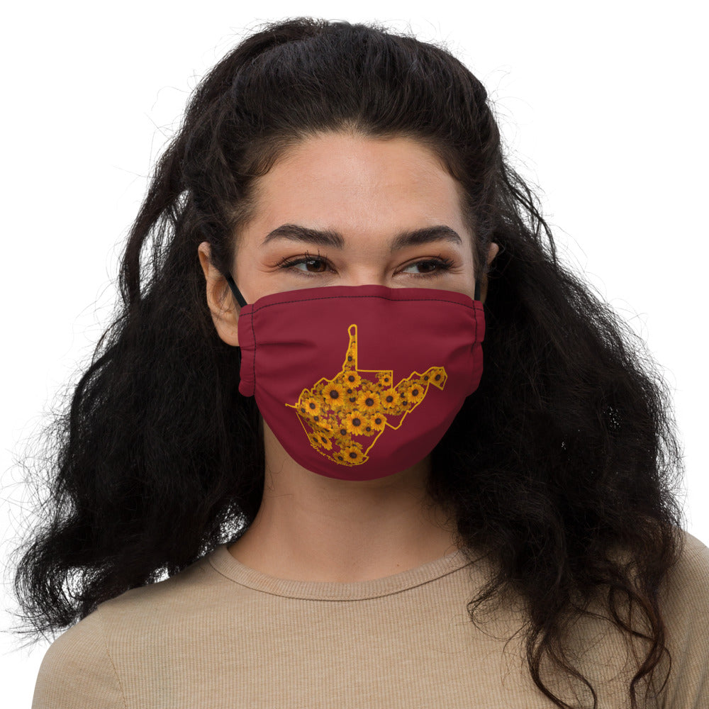 Floral WV Outline Premium face mask