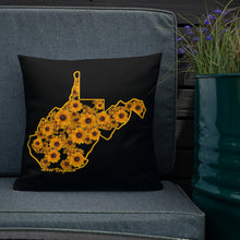 Load image into Gallery viewer, WV Floral Outline Premium Pillow