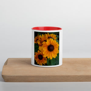 Floral Mug With Colored Interior