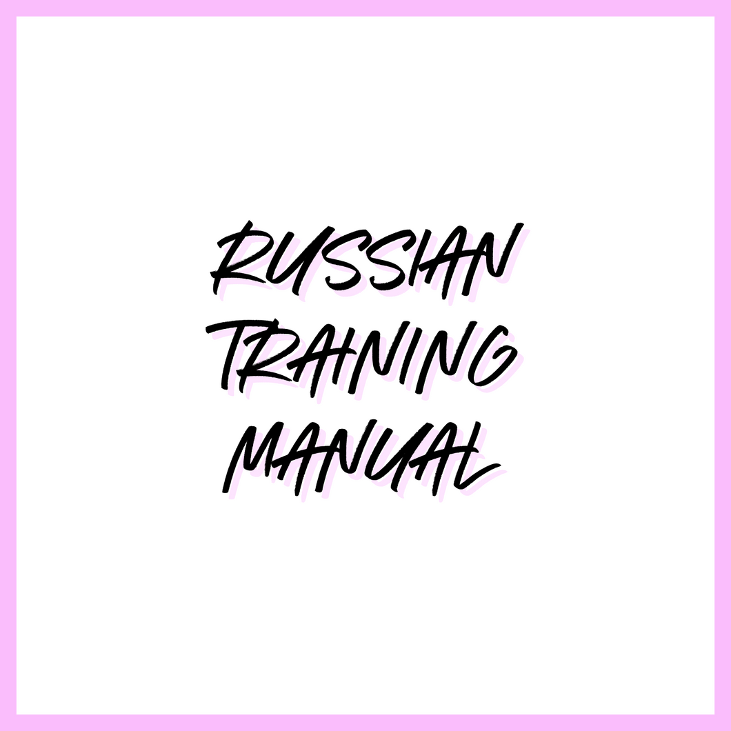 RUSSIAN TRAINING MANUAL
