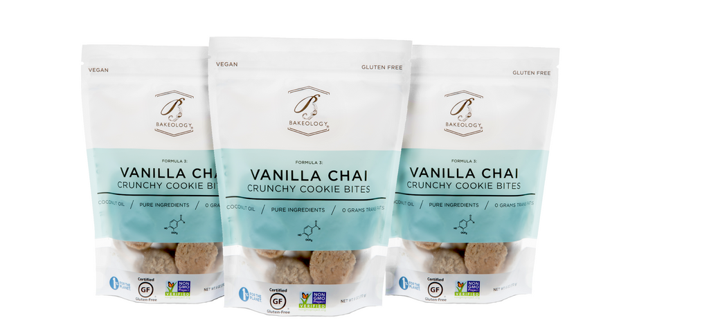 Vanilla Chai Cookie Bites, 3-pack - Bakeology