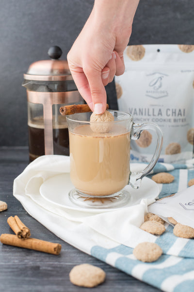 3 pack- Vanilla Chai Cookie Bites, 6 oz bags