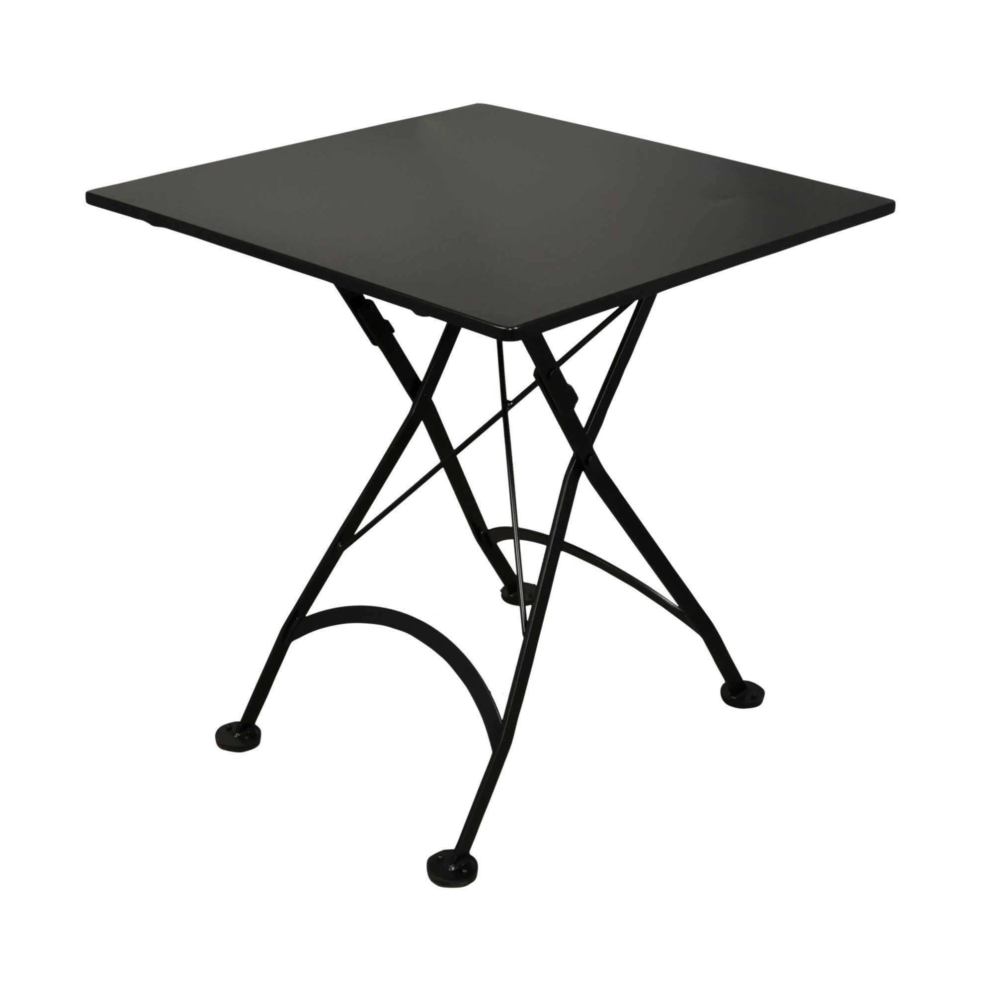 Square folding tables - 32 Inch Square European Folding Steel Metal Bistro Table