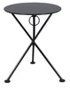24 Inch Round Black Folding Metal Bistro Table