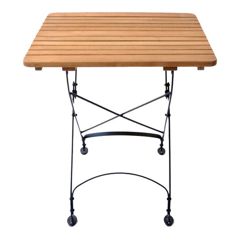 "Rebecca Folding 27"" Square Table with Solid Top"