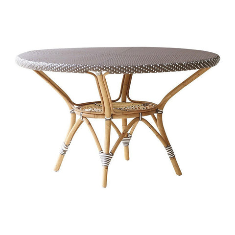 Danielle Dining Table, Cappuccino With White Dots