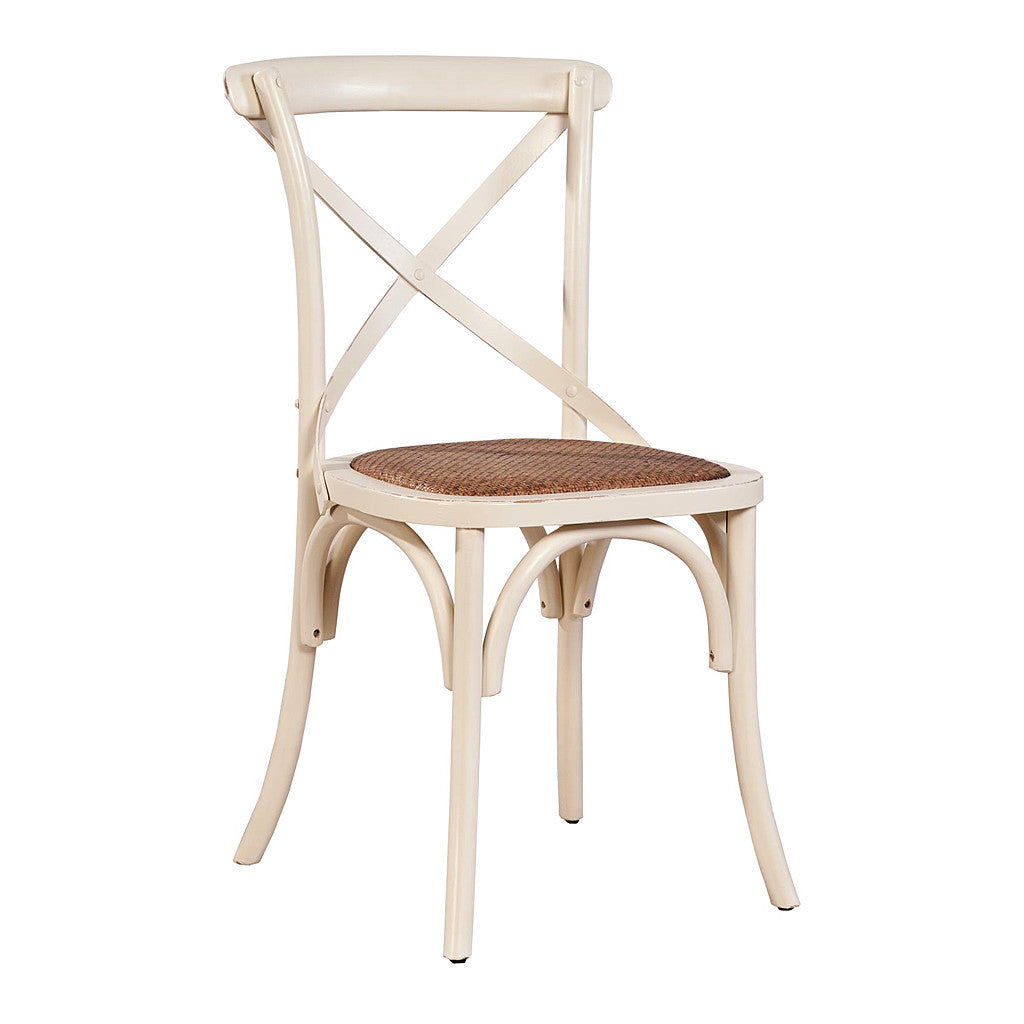 paris bistro cross back side chair set of 2 - Bistro Chairs