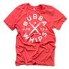 Red Heather BubbaWhips Tee