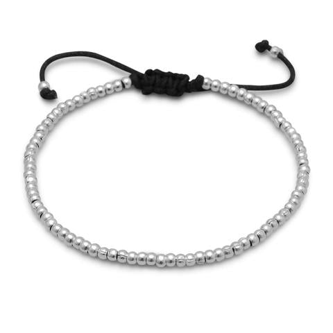 Adjustable Textured Bead Bracelet
