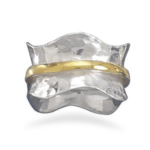 Two Tone Wave Ring