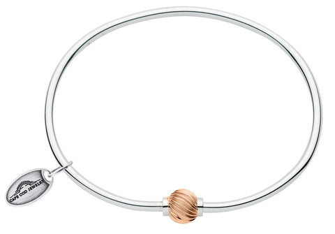 LeStage Cape Cod ss with rose gold swirl ball bracelet