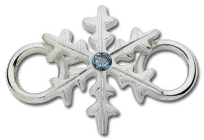 LeStage Snowflake with blue zircon Clasp