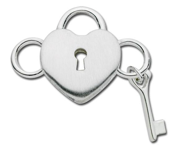 LeStage Heart with Lock and Key Clasp
