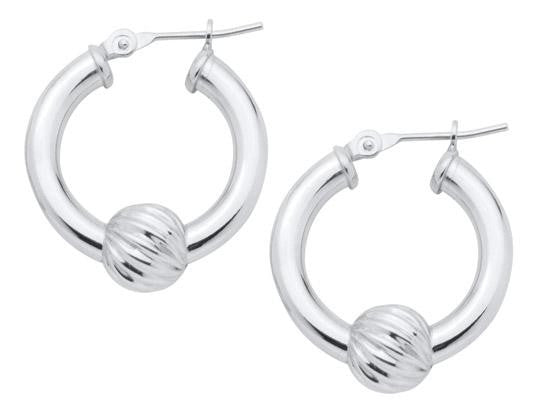 LeStage sterling silver swirl ball Cape Cod earrings