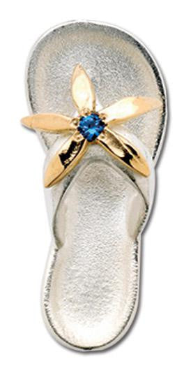 LeStage Flip Flop with Sapphire Clasp