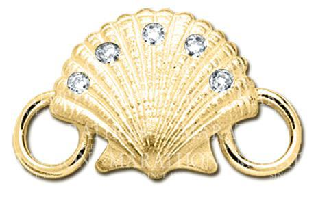 LeStage 14K Scallop with Diamonds Clasp