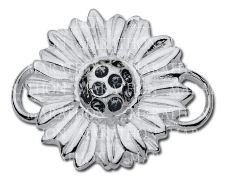 Lestage Sunflower with crystals clasp