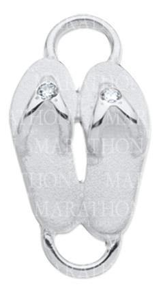 LeStage Flip flops with diamonds clasp