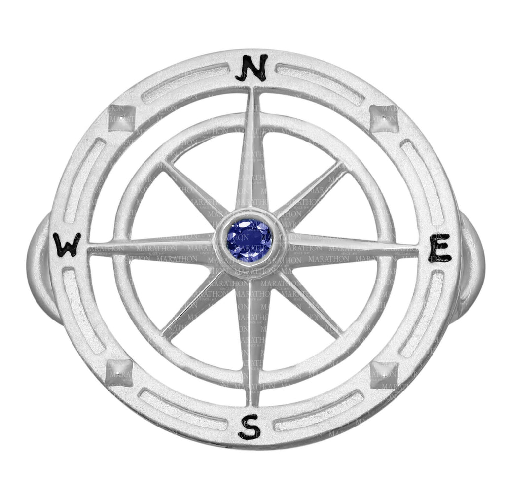 LeStage Compass Rose with Stone Clasp