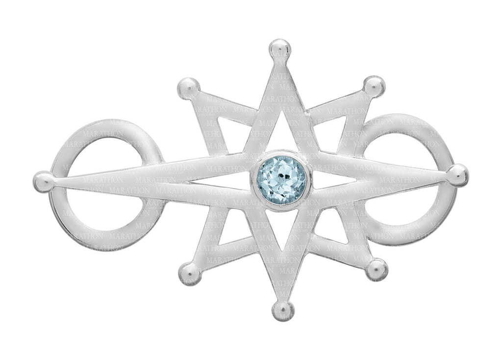 North Star with stone clasp