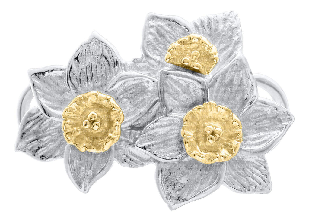 LeStage Two-tonned Triple Daffodil Clasp