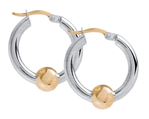 Cape Cod SS-14K 20mm hoop earrings