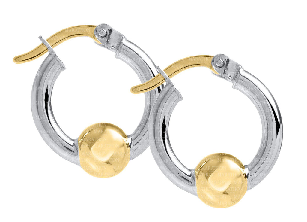 Cape Cod SS-14K 15mm hoop earrings