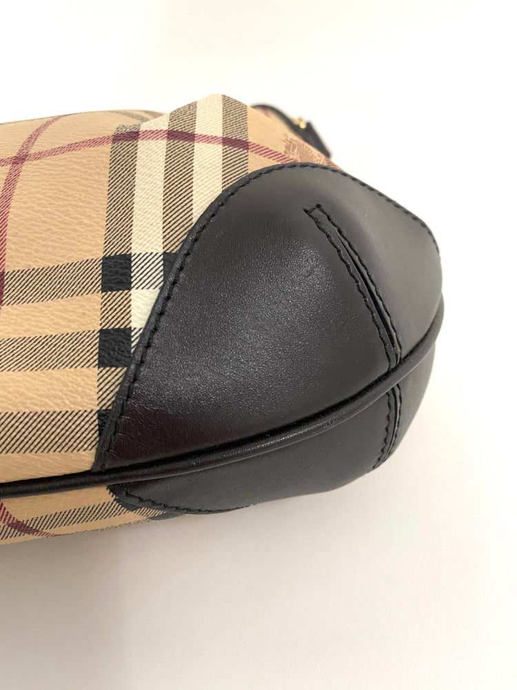 BURBERRY Checkered Hobo Bag