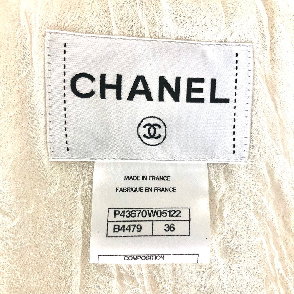 Load image into Gallery viewer, CHANEL crop tie front top sz36