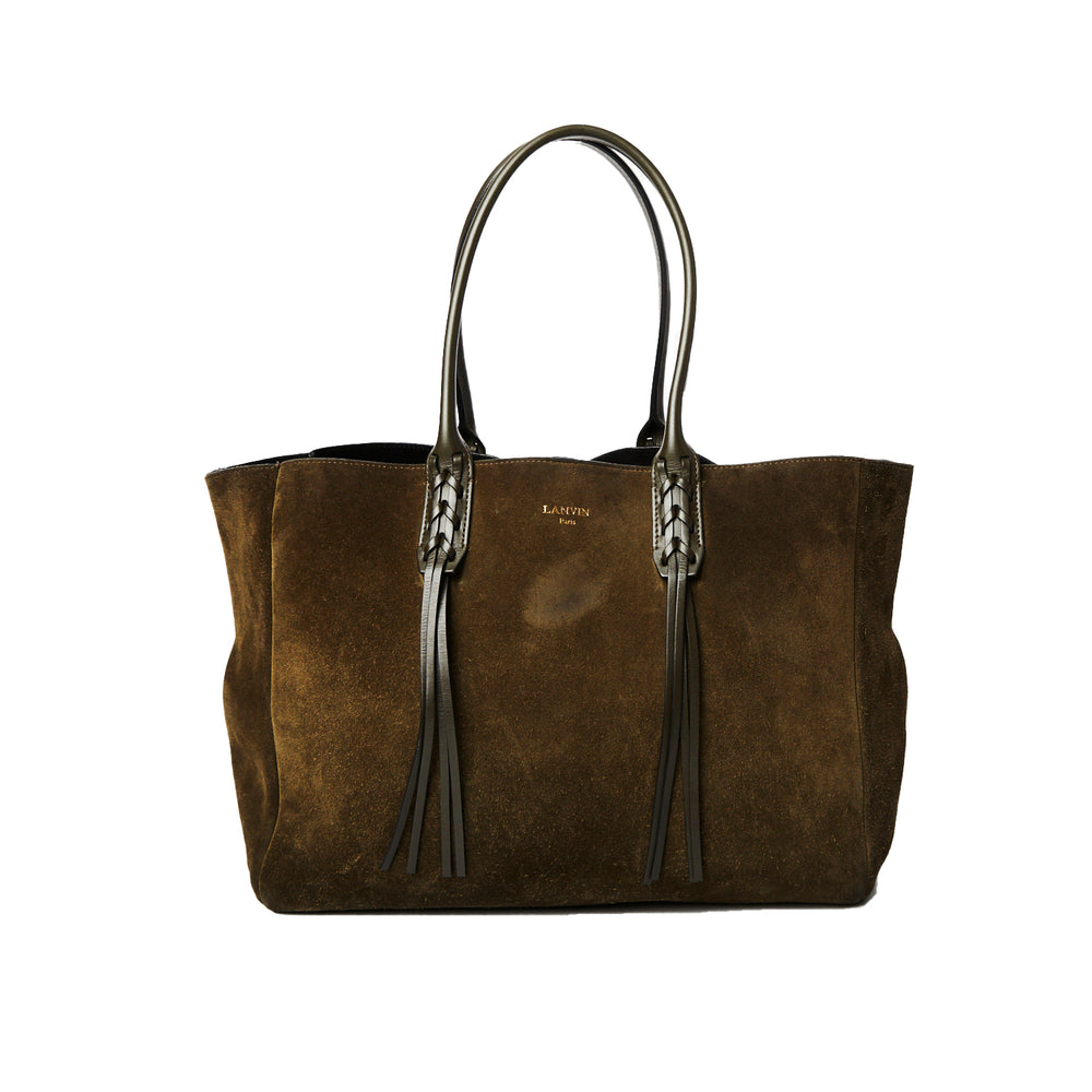 Load image into Gallery viewer, LANVIN nela khaki suede tote