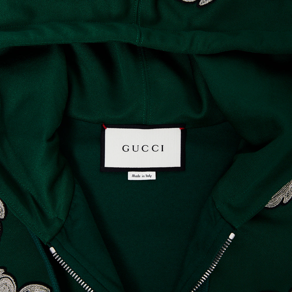 GUCCI Embroidered Hooded Sweater Sz xs