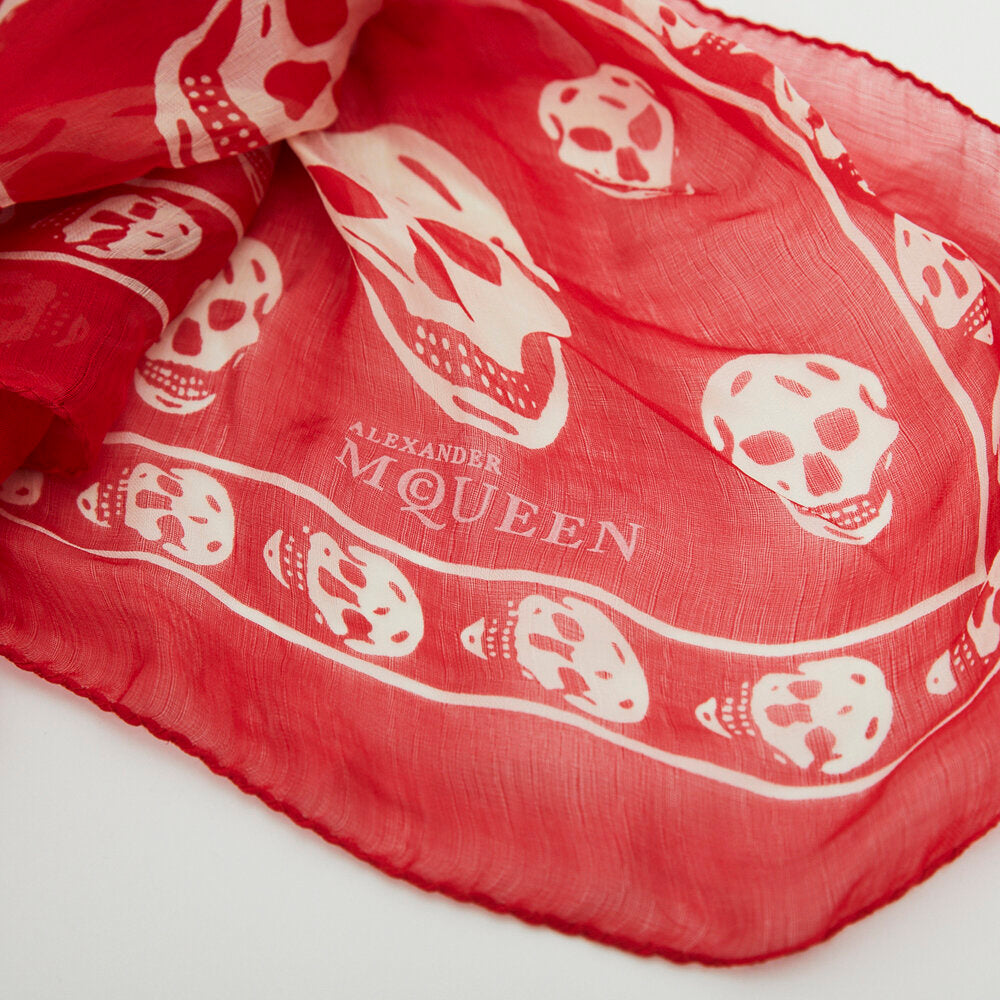 Load image into Gallery viewer, ALEXANDER MCQUEEN Skull Scarf
