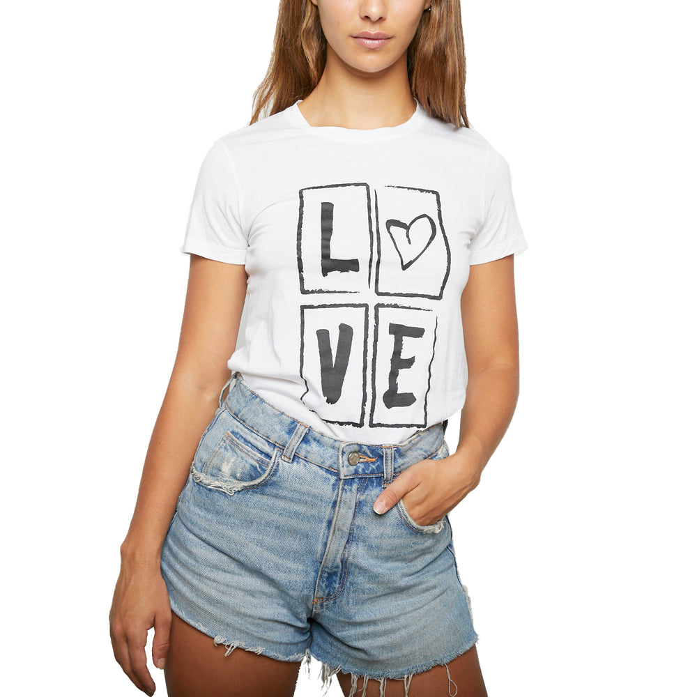 Load image into Gallery viewer, YVES SAINT LAURENT LOVE tee Sz 34