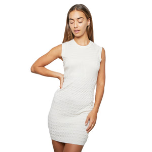 CHANEL cashmere knit body con dress sz34