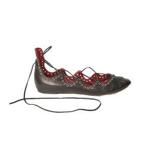 ISABEL MARANT Leoni leather lace up ballet flat 40