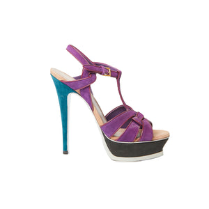 Load image into Gallery viewer, SAINT LAURENT Multi Colour Tribute Pump Sz 38